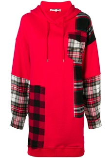 McQ Alexander McQueen tartan sweatshirt dress