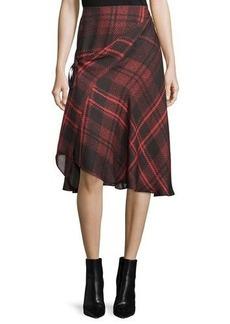 McQ Alexander McQueen Tied Tartan Plaid Skirt