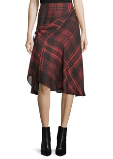 McQ Alexander McQueen Tied Tartan Plaid Skirt