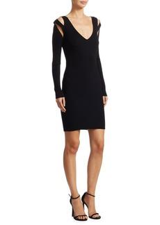 McQ Alexander McQueen V-Neck Bodycon Dress