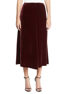 McQ Alexander McQueen Velvet Fluid A-Line Skirt