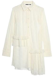 Mcq Alexander Mcqueen Woman Asymmetric Point D'esprit Tulle Mini Dress Ivory