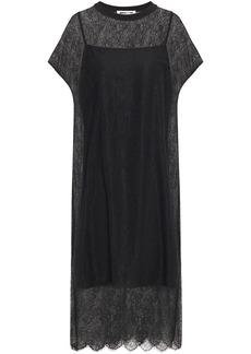 Mcq Alexander Mcqueen Woman Chantilly Lace Midi Dress Black