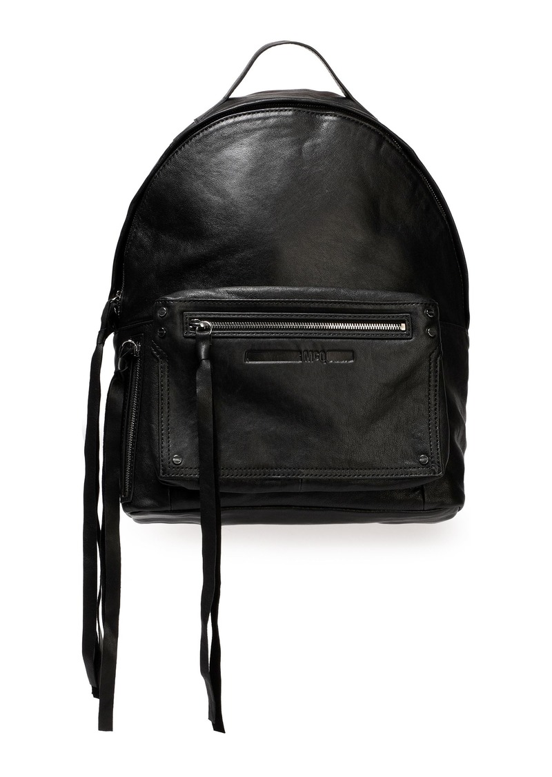 Mcq Alexander Mcqueen Woman Classic Leather Backpack Black