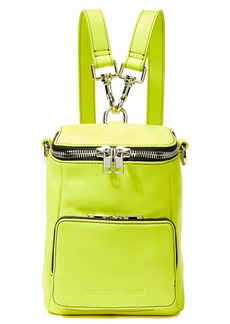 Mcq Alexander Mcqueen Woman Convertible Neon Leather Backpack Bright Yellow