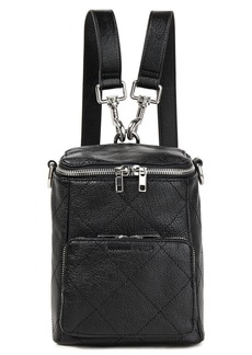 Mcq Alexander Mcqueen Woman Convertible Quilted Textured-leather Backpack Black
