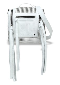 Mcq Alexander Mcqueen Woman Convertible Studded Leather Backpack White