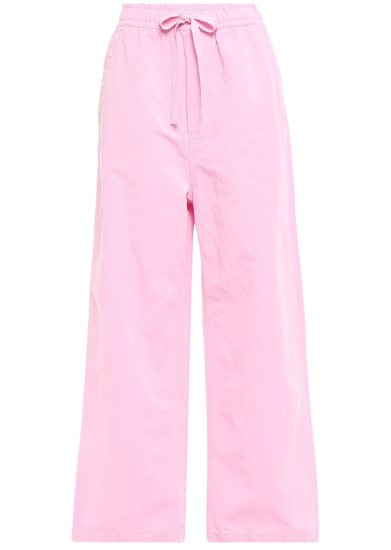 Mcq Alexander Mcqueen Woman Cotton And Linen-blend Wide-leg Pants Baby Pink