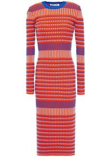 Mcq Alexander Mcqueen Woman Cotton-blend Jacquard Midi Dress Bright Orange