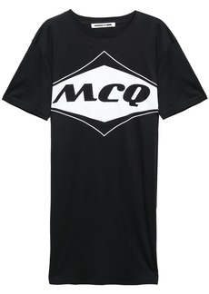 Mcq Alexander Mcqueen Woman Cotton-jersey Mini Dress Black