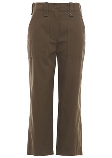 Mcq Alexander Mcqueen Woman Cotton-twill Straight-leg Pants Army Green