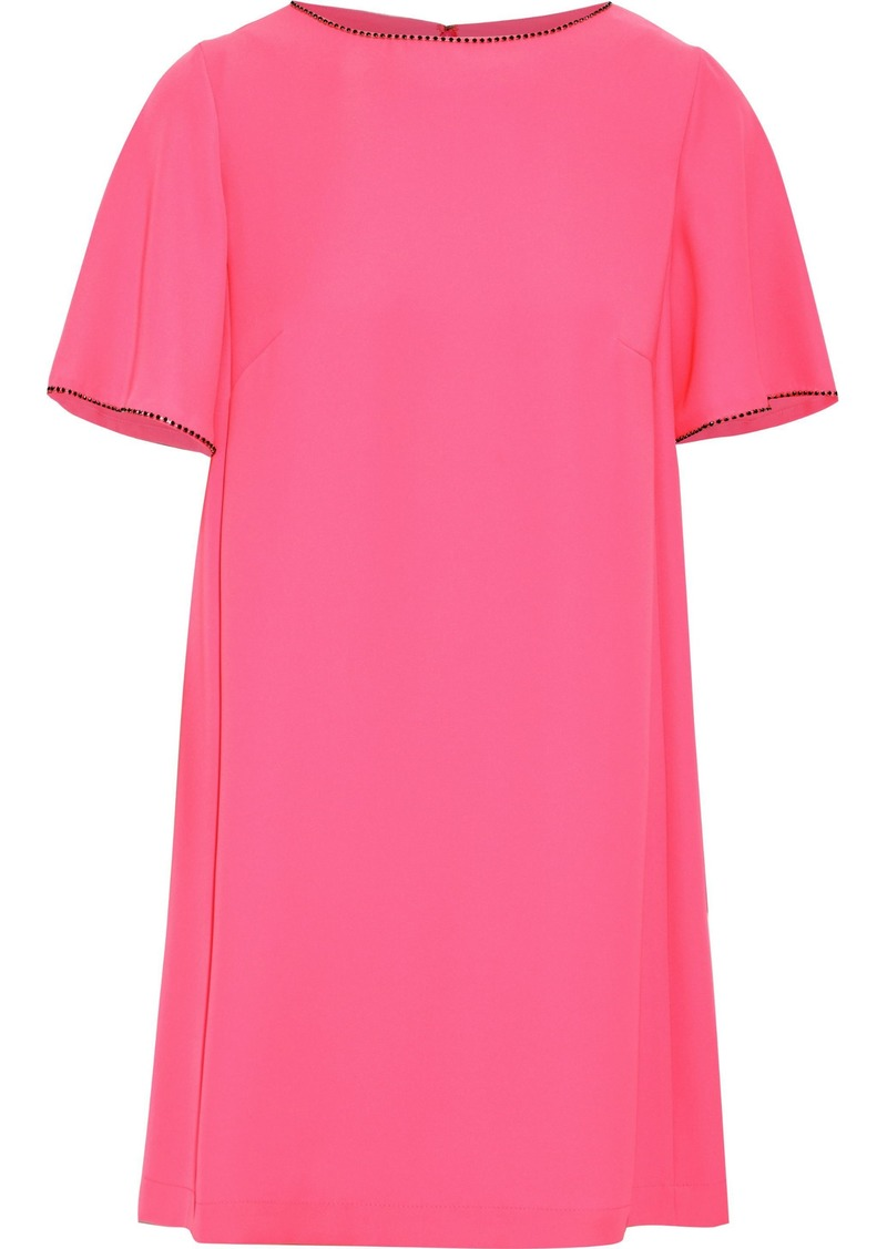 Mcq Alexander Mcqueen Woman Crystal-embellished Cady Mini Dress Bubblegum