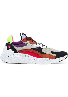 Mcq Alexander Mcqueen Woman Daku Color-block Perforated Leather Nubuck And Shell Sneakers Multicolor