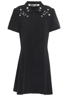 Mcq Alexander Mcqueen Woman Embellished Crepe Mini Dress Black