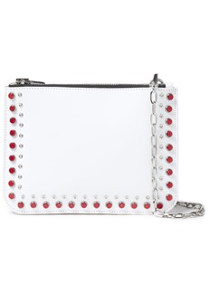 Mcq Alexander Mcqueen Woman Embellished Leather Shoulder Bag White