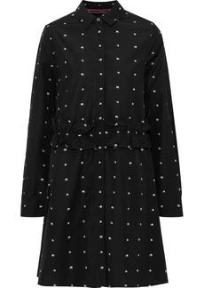 Mcq Alexander Mcqueen Woman Embroidered Cotton-poplin Mini Shirt Dress Black