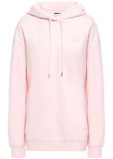Mcq Alexander Mcqueen Woman Embroidered French Cotton-terry Hoodie Baby Pink