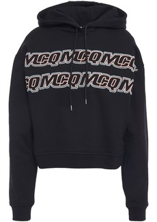 Mcq Alexander Mcqueen Woman Embroidered French Cotton-terry Hoodie Black