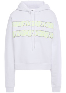 Mcq Alexander Mcqueen Woman Embroidered French Cotton-terry Hoodie Ivory