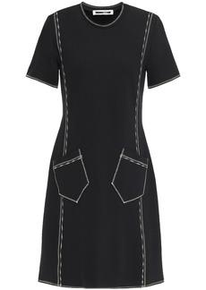 Mcq Alexander Mcqueen Woman Embroidered Jersey Mini Dress Black