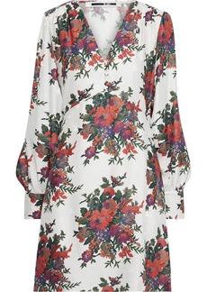 Mcq Alexander Mcqueen Woman Floral-print Silk-jacquard Mini Dress Ivory