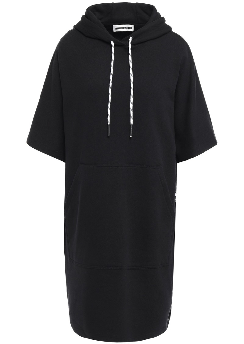 Mcq Alexander Mcqueen Woman French Cotton-terry Hooded Dress Black