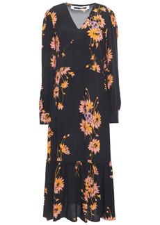 Mcq Alexander Mcqueen Woman Crepe De Chine Midi Dress Black