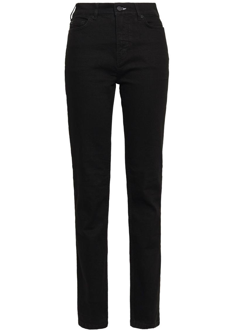 Mcq Alexander Mcqueen Woman High-rise Slim-leg Jeans Black