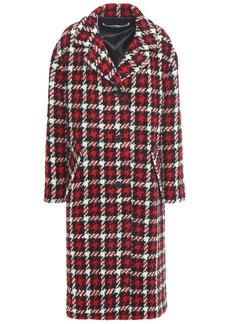 Mcq Alexander Mcqueen Woman Houndstooth Wool-blend Coat Red