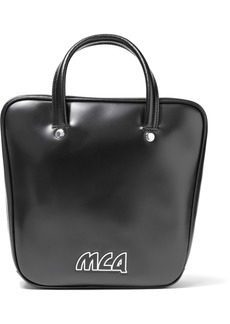 Mcq Alexander Mcqueen Woman Ivy Flip Leather Shoulder Bag Black