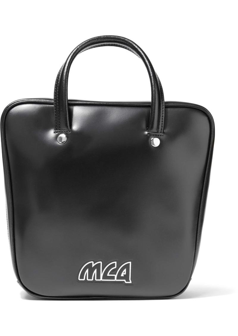 Mcq Alexander Mcqueen Woman Ivy Flip Leather Shoulder Bag Black