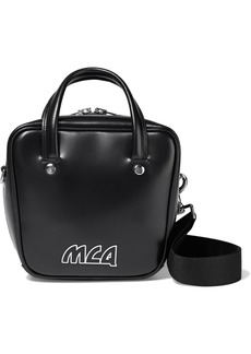 Mcq Alexander Mcqueen Woman Ivy Small Logo-appliquéd Glossed-leather Shoulder Bag Black