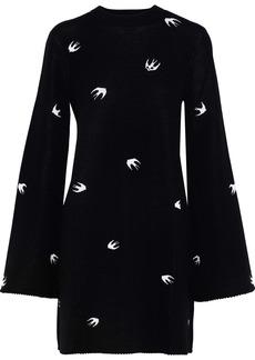 Mcq Alexander Mcqueen Woman Jacquard-knit Mini Dress Black