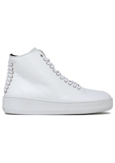 Mcq Alexander Mcqueen Woman Leather High-top Sneakers White