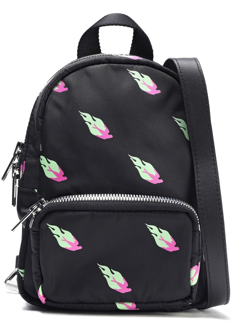 Mcq Alexander Mcqueen Woman Leather-trimmed Printed Shell Backpack Black