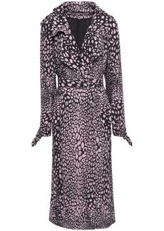 Mcq Alexander Mcqueen Woman Leopard-print Crepe Trench Coat Baby Pink