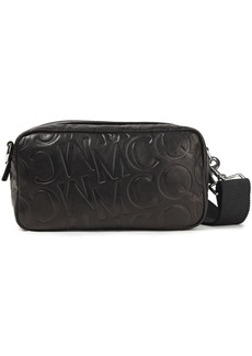 Mcq Alexander Mcqueen Woman Logo-embossed Leather Shoulder Bag Black