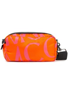 Mcq Alexander Mcqueen Woman Logo-print Shell Shoulder Bag Bright Orange