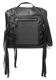 Mcq Alexander Mcqueen Woman Loveless Medium Convertible Studded Leather Backpack Black