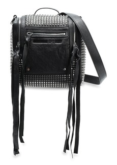 Mcq Alexander Mcqueen Woman Loveless Mini Convertible Studded Leather Backpack Black