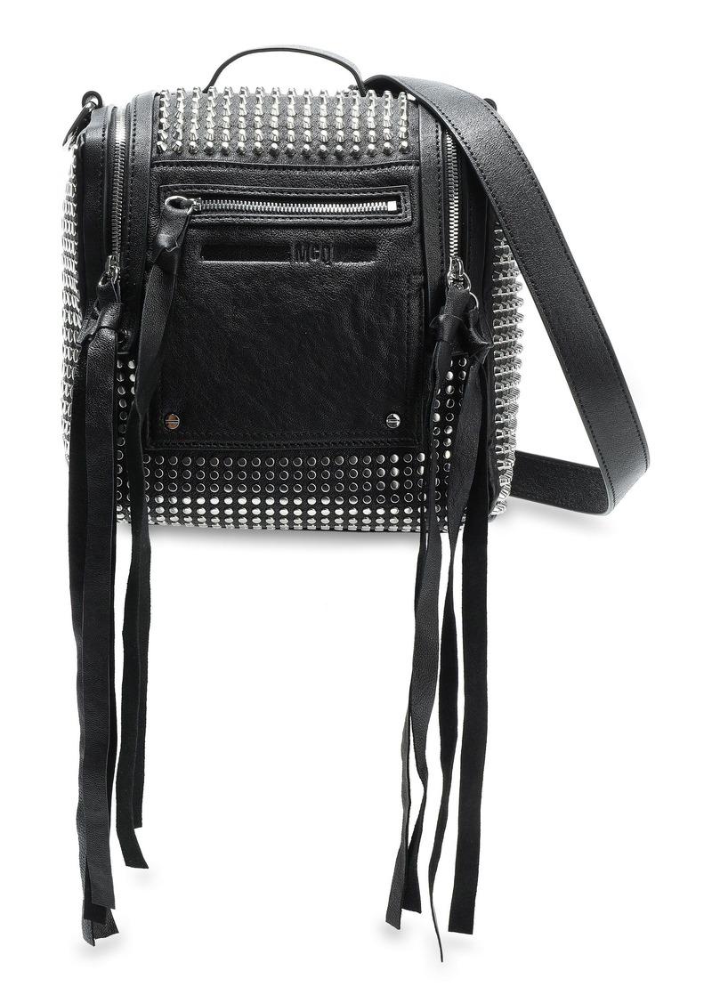 Mcq Alexander Mcqueen Woman Loveless Mini Convertible Studded Leather Backpack Black