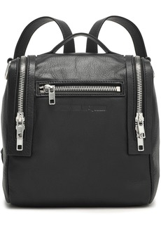 Mcq Alexander Mcqueen Woman Loveless Mini Convertible Textured-leather Backpack Black