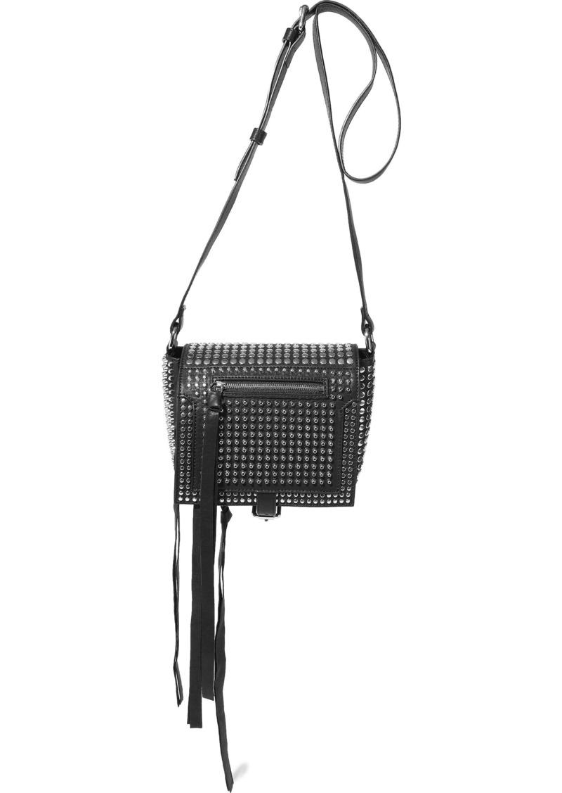 Mcq Alexander Mcqueen Woman Loveless Small Studded Leather Shoulder Bag Black