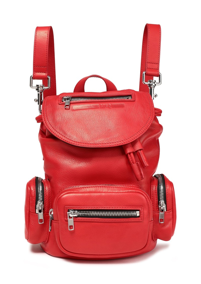 Mcq Alexander Mcqueen Woman Mini Convertible Leather Backpack Tomato Red