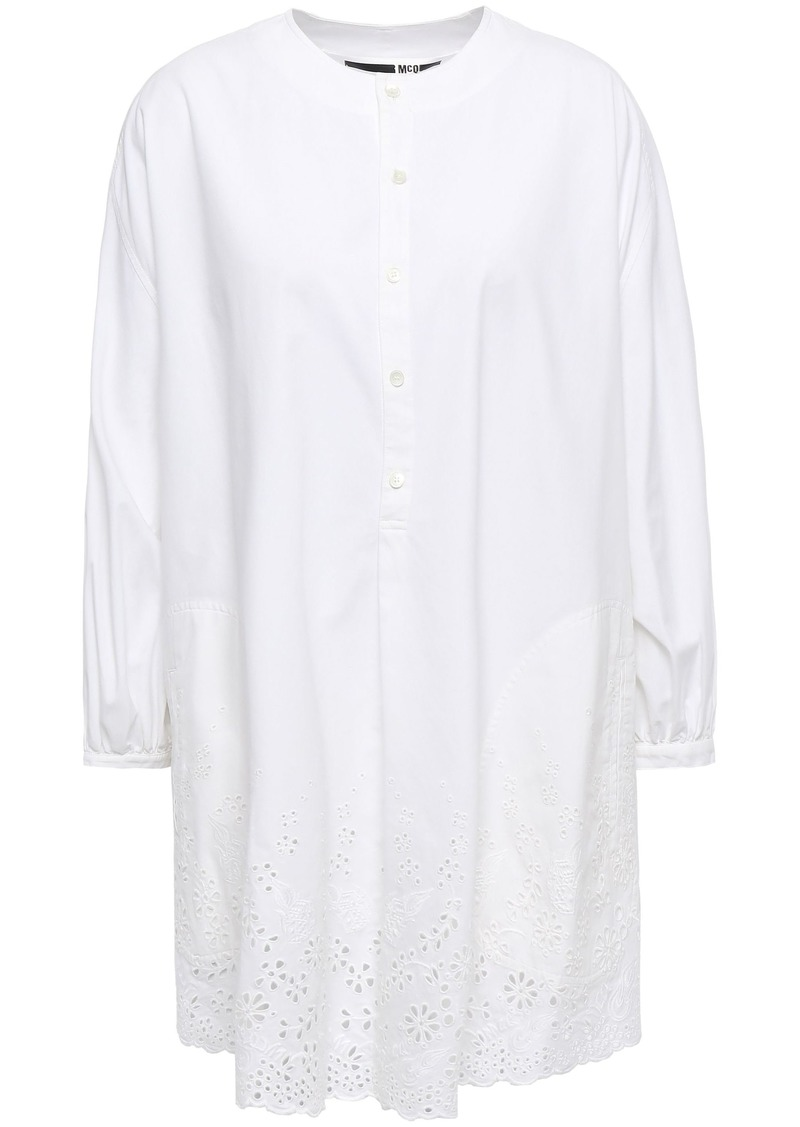 Mcq Alexander Mcqueen Woman Broderie Anglaise Cotton-poplin Tunic White