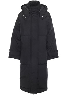 Mcq Alexander Mcqueen Woman Oversized Shell Hooded Down Coat Black