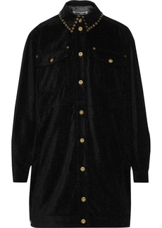 Mcq Alexander Mcqueen Woman Oversized Studded Canvas Jacket Black