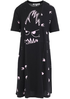 Mcq Alexander Mcqueen Woman Paneled Printed Cotton-jersey Mini Dress Black