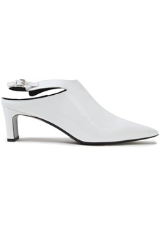 Mcq Alexander Mcqueen Woman Patent-leather Slingback Pumps White