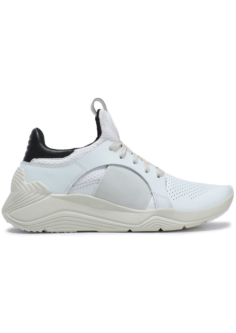 Mcq Alexander Mcqueen Woman Perforated Leather And Mesh Sneakers Off-white